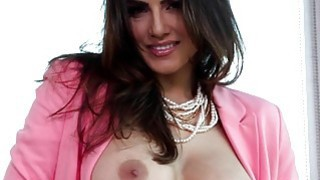 Sunny Leone wearing pink