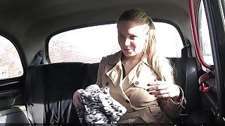 Fake taxi driver bangs mad blonde amateur babe