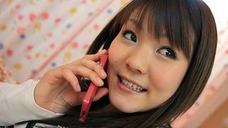 Innocent Japanese hottie enjoying a pussy fingering