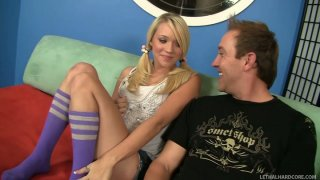 Hot blonde teen Teagan Summers gives rimjob to Will Powers
