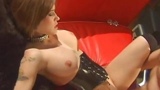 Big tits chick love dogy style