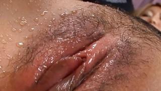 Japanese gets explicit tits mashing and toying
