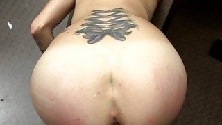 Curvy babe pounded by horny pawn dude
