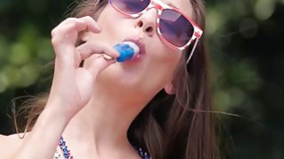 Alexa Grace and Cassidy Klein having outdoor lesbian action